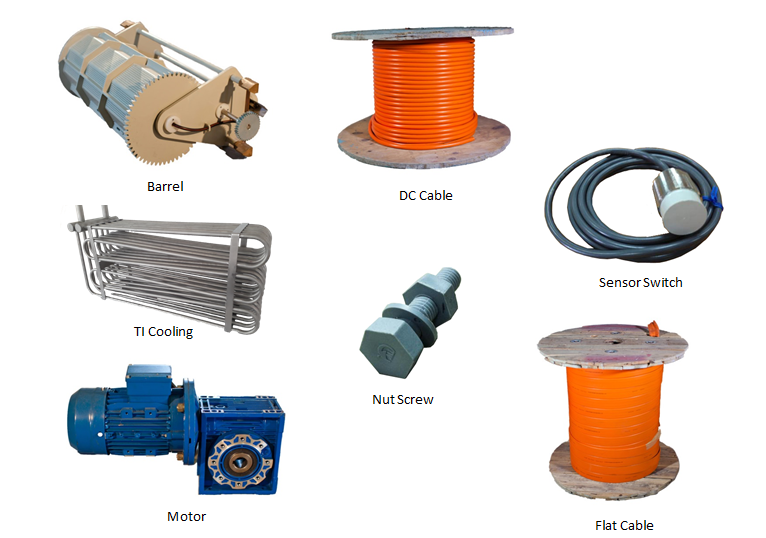 spare part,DC Cable,Sensor Switch,Moter,Heater,Chemical Pump,Rack,Cooling Coil,Filter Pump